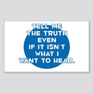 The Truth Rectangle Sticker