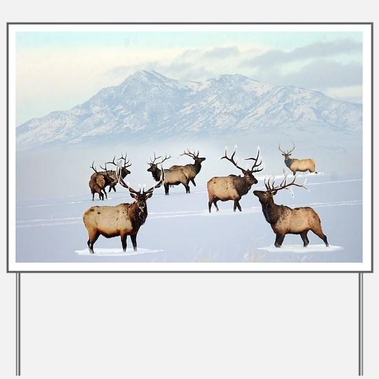 Funny Bull moose Yard Sign