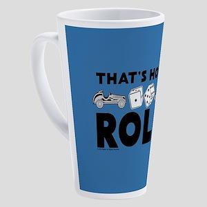 Monopoly - Thats How I Roll 17 oz Latte Mug