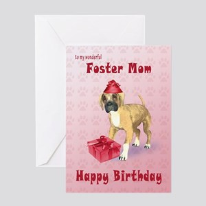Birthday card for a foster mom with a boxer puppy