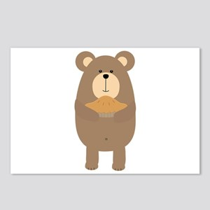 Brown Bear with pie Postcards (Package of 8)