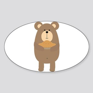 Brown Bear with pie Sticker