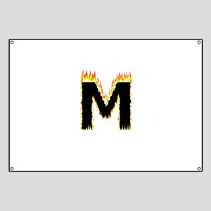 M (Flames) Banner
