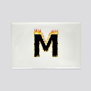 M (Flames) Magnets
