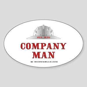 Company Man Oval Sticker