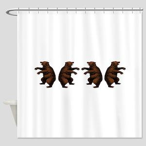 Dancing Bears Shower Curtains