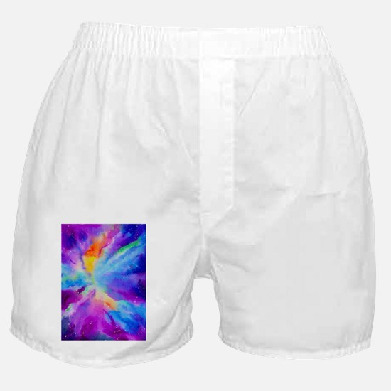 Watercolor Painting of Nebula Boxer Shorts