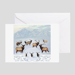 Northern bull elk 2 Greeting Card