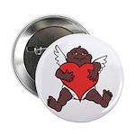 "African Cupid Valentine Love 2.25"" Button (10 pack"
