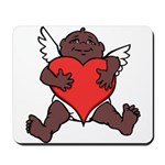 African Cupid Valentine Love Mousepad
