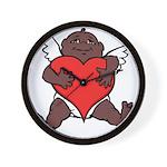 African Cupid Valentine Love Wall Clock