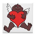 African Cupid Valentine Love Tile Coaster