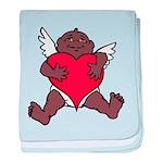 African Cupid Valentine Love baby blanket