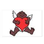 African Cupid Valentine Love Postcards (Package of