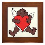 African Cupid Valentine Love Framed Tile