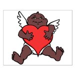 African Cupid Valentine Love Small Poster