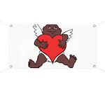 African Cupid Valentine Love Banner
