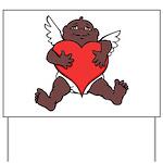 African Cupid Valentine Love Yard Sign