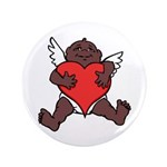 "African Cupid Valentine 3.5"" Button (100 Pack"