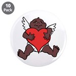 "African Cupid Valentine Love 3.5"" Button (10 pack)"