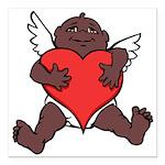 "African Cupid Valentine Love Square Car Magnet 3"""