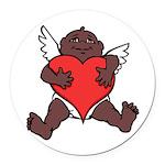 African Cupid Valentine Love Round Car Magnet