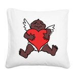 African Cupid Valentine Love Square Canvas Pillow