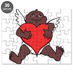 African Cupid Valentine Love Puzzle