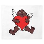 African Cupid Valentine Love King Duvet