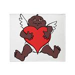 African Cupid Valentine Love Throw Blanket