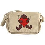 African Cupid Valentine Love Messenger Bag