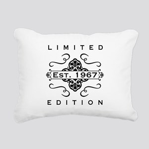 1967 Limited Edition Rectangular Canvas Pillow