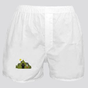 Grizzly Bear Camping Boxer Shorts