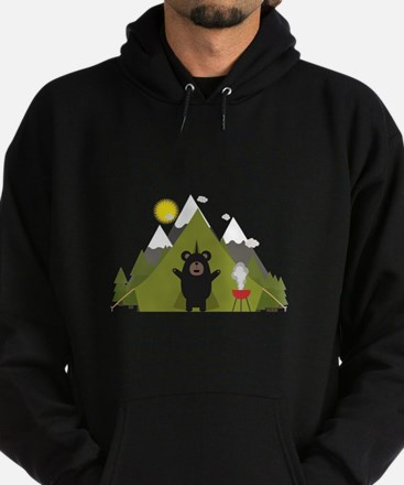 Grizzly Bear Camping Sweatshirt
