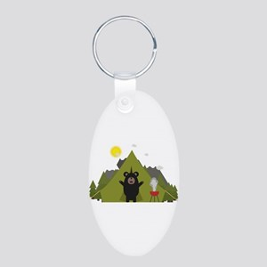 Grizzly Bear Camping Keychains