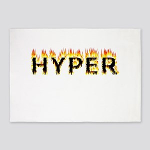 Hyper (Flames) 5'x7'Area Rug