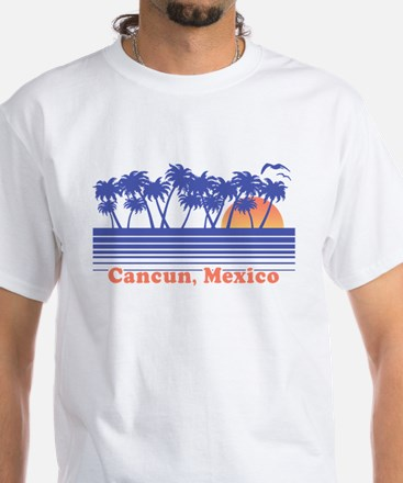 Cancun Mexico White T-Shirt