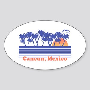 Cancun Mexico Sticker (Oval)