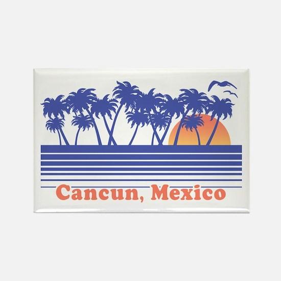 Cancun Mexico Rectangle Magnet