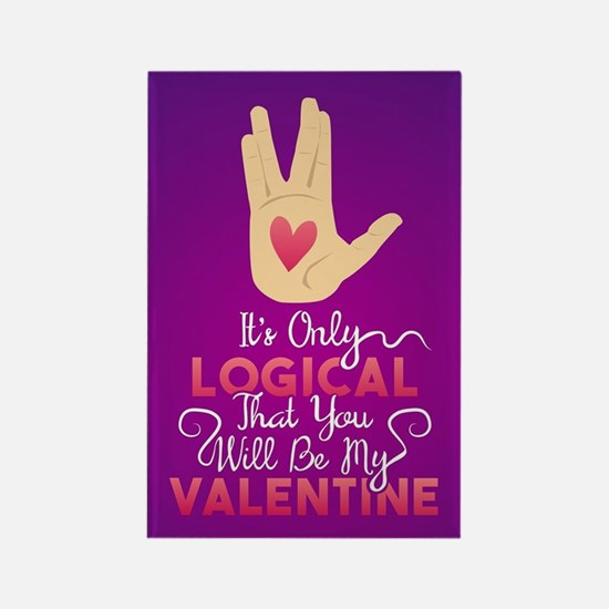 Logical Valentine Rectangle Magnet
