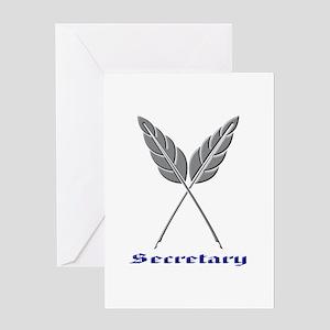 Secretary Greeting Cards