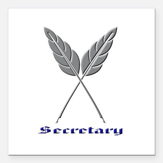 "Secretary Square Car Magnet 3"" x 3"""