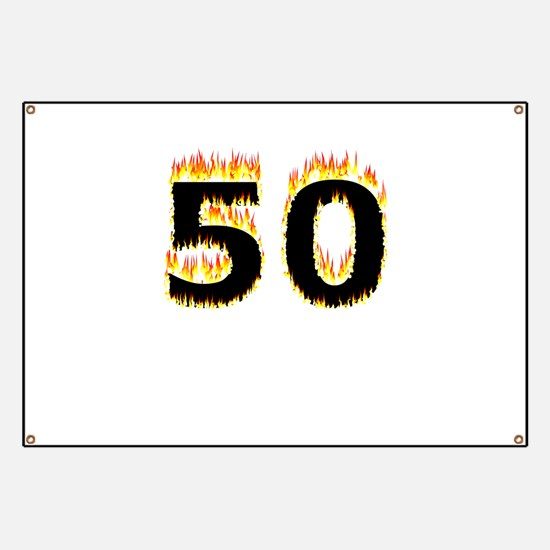 50 (Flames) Banner