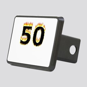 50 (Flames) Rectangular Hitch Cover