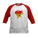 Love Hearts Kids Baseball Jersey