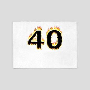 40 (Flames) 5'x7'Area Rug