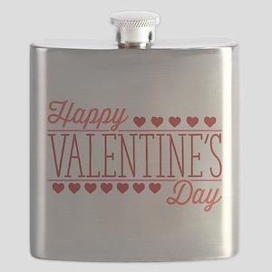 Happy Valentine's Day Flask