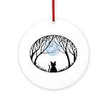 Fat Cat & Cat Lover Round Ornament