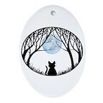 Fat Cat & Cat Lover Oval Ornament
