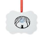 Fat Cat & Cat Lover Picture Ornament